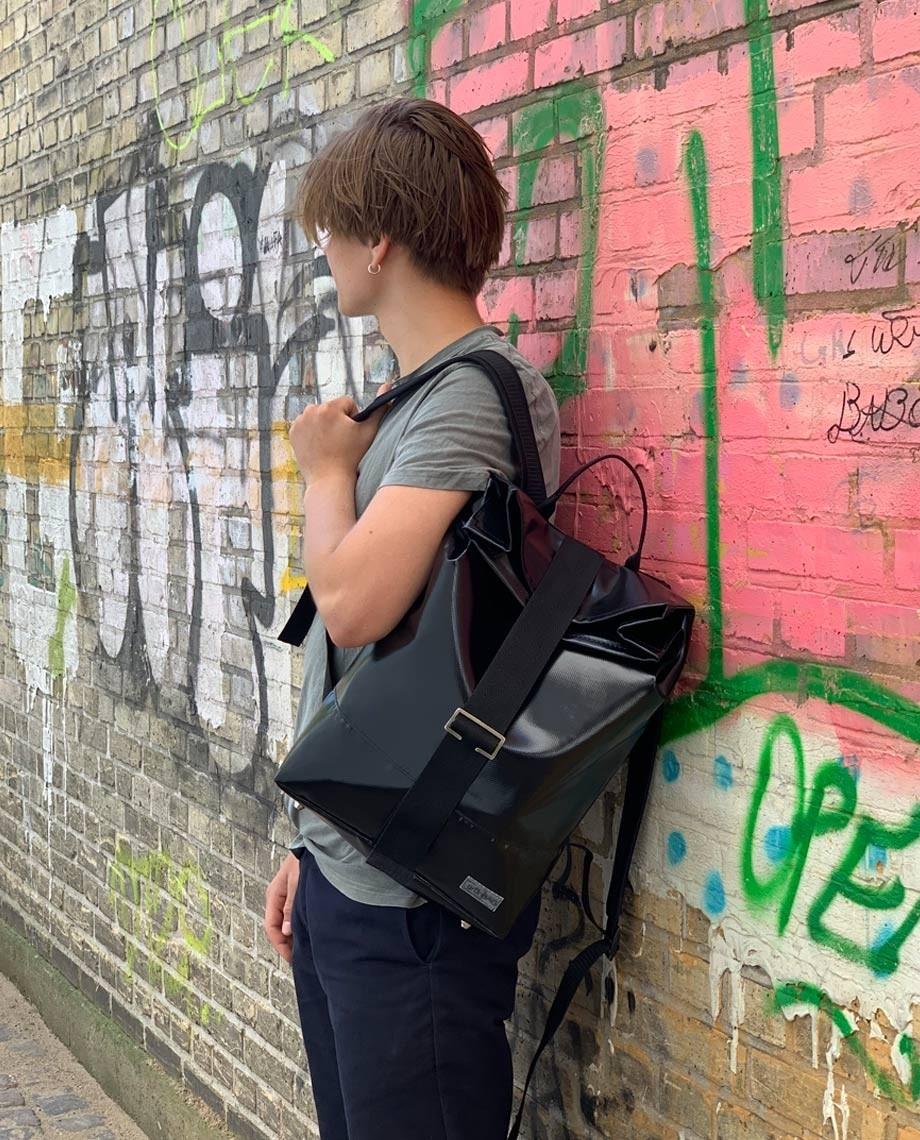 Black Backpack Norr Strap