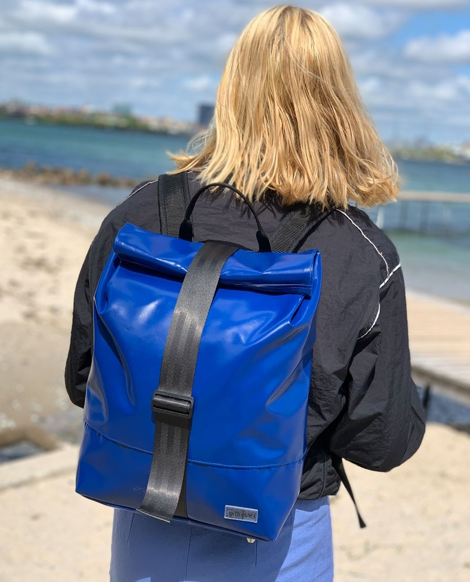 Blue Backpack Norr Strap