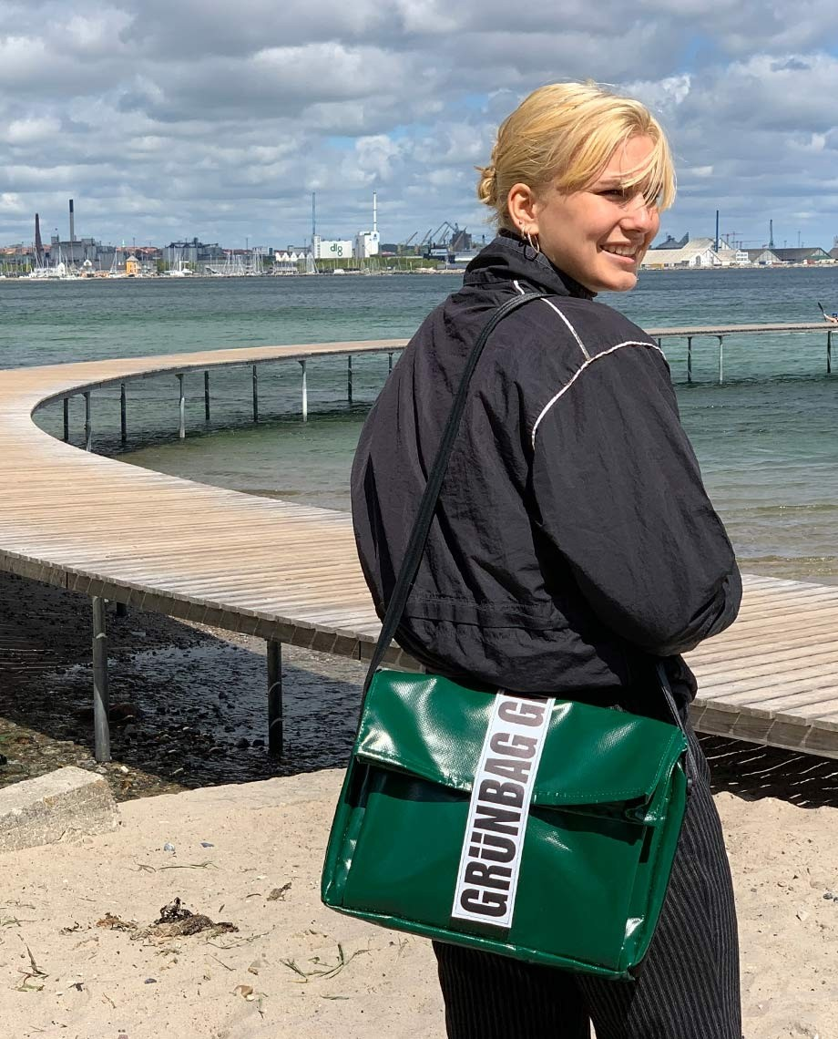 Green Computer Bag Carry