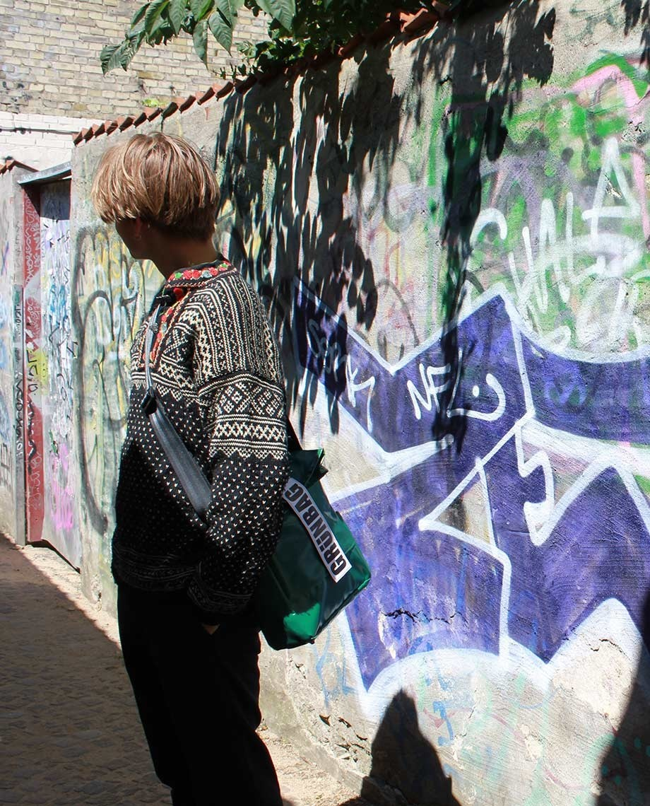 Green Shoulder Bag City-07