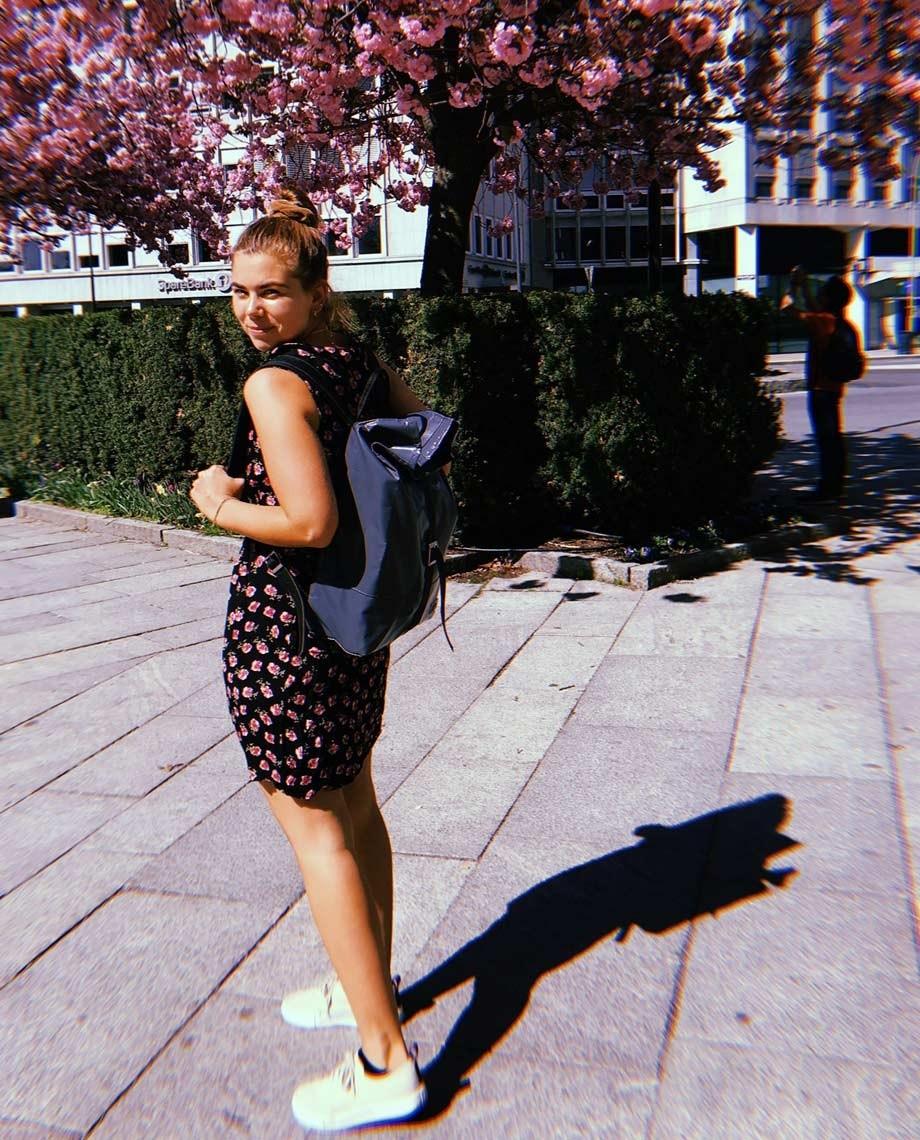 Grey Backpack Liv