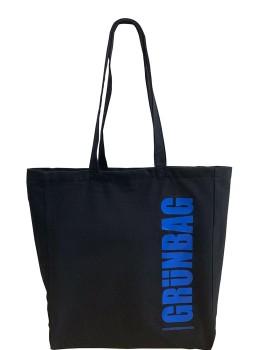 Black GRÜNBAG Tote blue logo-20